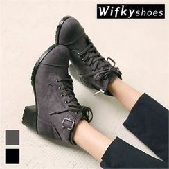 Wifky - Lace-Up Chunky-Heel Ankle Boots