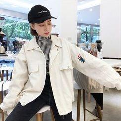 Eva Fashion - 刺繡翻領外套