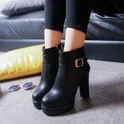 楊董 - 高跟飾扣及踝靴