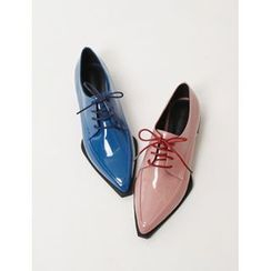 FROMBEGINNING - Pointy-Toe Oxford Flats