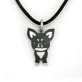 MBLife.com - Chihuahua 925 Silver Pendant Pet Dog Puppy Necklace with Leather Chain