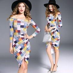 Soraka - Plaid Sheath Dress