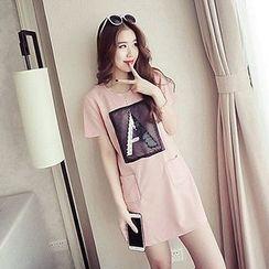 Fashion Street - Alphabet Short-Sleeve Dress