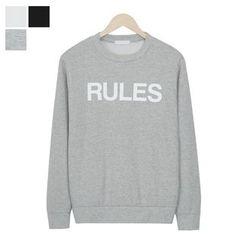DANGOON - Crew-Neck Lettering Sweatshirt