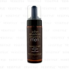 John Masters Organics - Men 2-In-1 Face Wash and Shave Foam