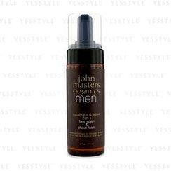 John Masters Organics - 男士2合1潔面剃鬚泡沫