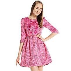 O.SA - 3/4-Sleeve Rosette Accent Dress