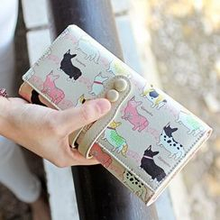 Princess Carousel - Cat Print Long Wallet