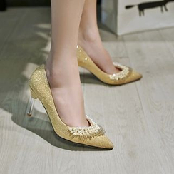 JY Shoes - Embellished Pointed Flats