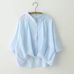 Meimei - Bow Stand-collar Blouse