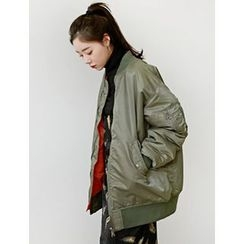 FROMBEGINNING - Reversible Oversized Zip Jacket