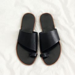 NANING9 - Faux-Leather Mules