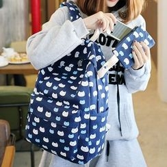 Sweet City - 套装: 印花背包 + 小包