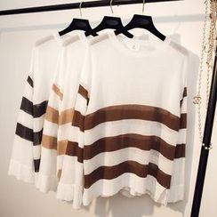 Honey House - Long-Sleeve Striped T-Shirt