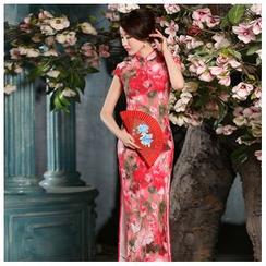 Janelle Qipao - 蓋袖花形旗袍