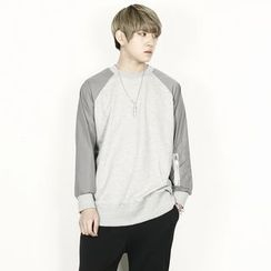 Rememberclick - Color-Block Round-Neck T-Shirt