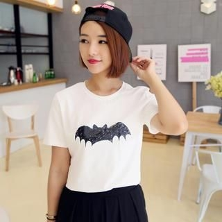 Mayi Ayamo - Short-Sleeve Bat Print T-Shirt