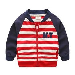 lalalove - Kids Striped Bomber Jacket