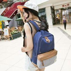VIVA - 插色帆布背包