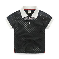 WellKids - Kids Short-Sleeve Dotted Polo Shirt