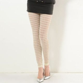 YesStyle Z - Sheer Lace Leggings