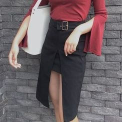 Anlay - Belted Pencil Skirt