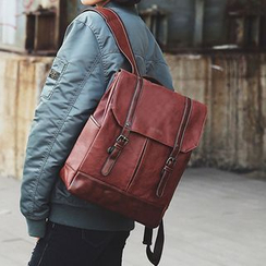 Shinian - Faux Leather Backpack