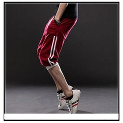 uninukoo - Stripe Cropped Sweatpants