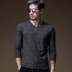 PROBOSCIS - Long-Sleeve Henley Top