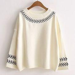 ninna nanna - 刺繡針織上衣