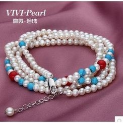 ViVi Pearl - Multifunctional Multi-Strand Freshwater Pearl Bracelet