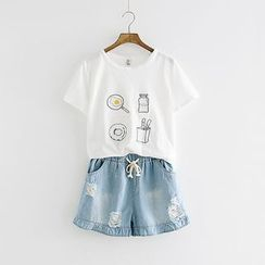 Storyland - Short-Sleeve Embroidery T-Shirt