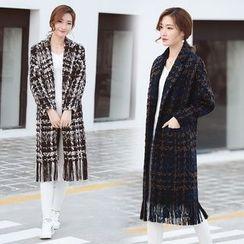 Vigoroso - Fringe Trim Woolen Coat