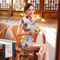 Janelle Qipao - Print Cheongsam