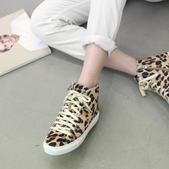 NANING9 - Faux-Calf Hair High-Top Sneakers