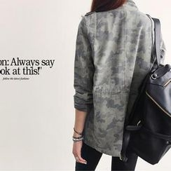 NANING9 - Faux-Leather Backpack