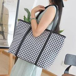Aoba - Houndstooth Shopper Bag
