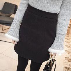 mimi&didi - Zip-Side A-Line Mini Skirt