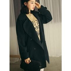 HOTPING - Double-Breasted Trench Coat
