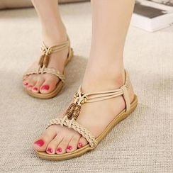 Mancienne - Braided Flat Sandals