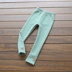 Rakkaus - Kids Bow-Accent Fleece-Lined Leggings