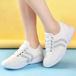 Renben - Hidden Wedge Canvas Sneakers
