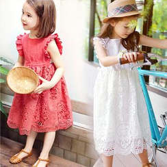 Cuckoo - Kids Lace Midi Dress