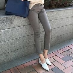 LIPHOP - Straight-Cut Cotton Pants