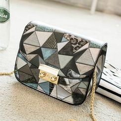 enoi - Geometric Pattern Shoulder Bag