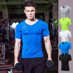 FoxFlair - V-Neck Sports Training T-Shirt