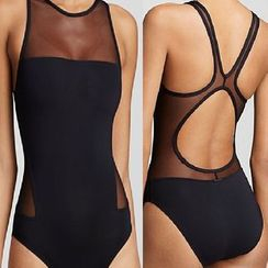 MATIN - Sheer-Panel Swimsuit