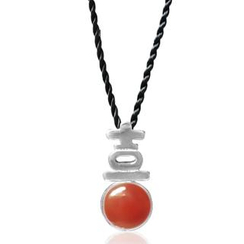 ZN Concept Red Agate Pendant with Silk Cord