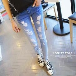 REDOPIN - Distressed Gradient Jeans