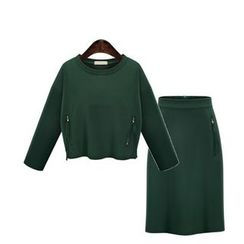 Hanni - Set: Zip Pullover + Pencil Skirt